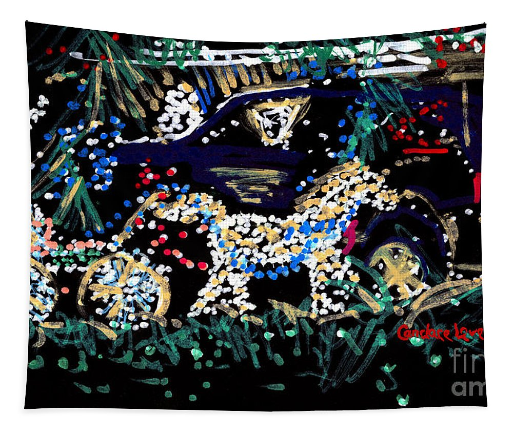 Horse Tapestry featuring the painting Horse And Carriage by Candace Lovely
