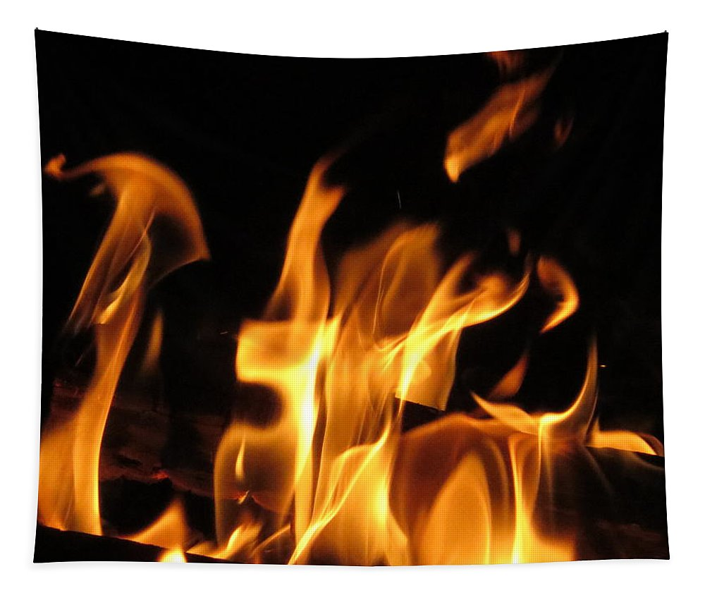 Hot Fire Tapestry featuring the photograph Hot Fire by Zina Stromberg