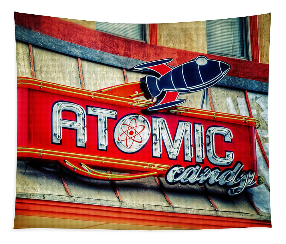 Atomic Tapestry featuring the photograph Hot Stuff by Joan Carroll