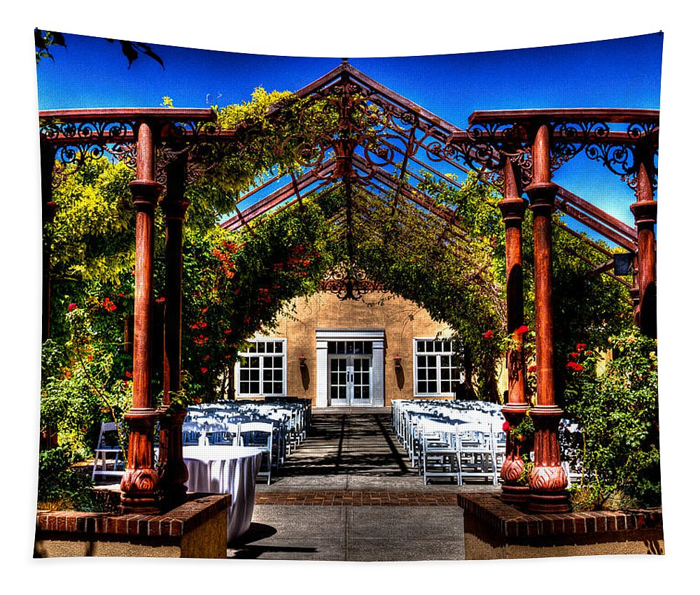Hotel Albuquerque Tapestry featuring the photograph Hotel Albuquerque Wedding Pavilion by David Patterson