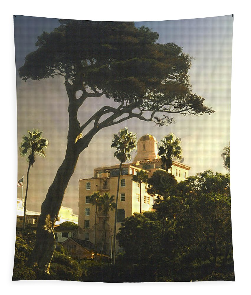 Landscape Tapestry featuring the photograph Hotel California- La Jolla by Steve Karol