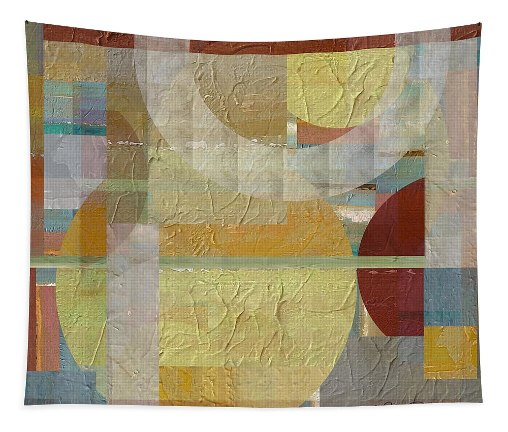 Abstract Tapestry featuring the mixed media House Divided Two by Ruth Palmer