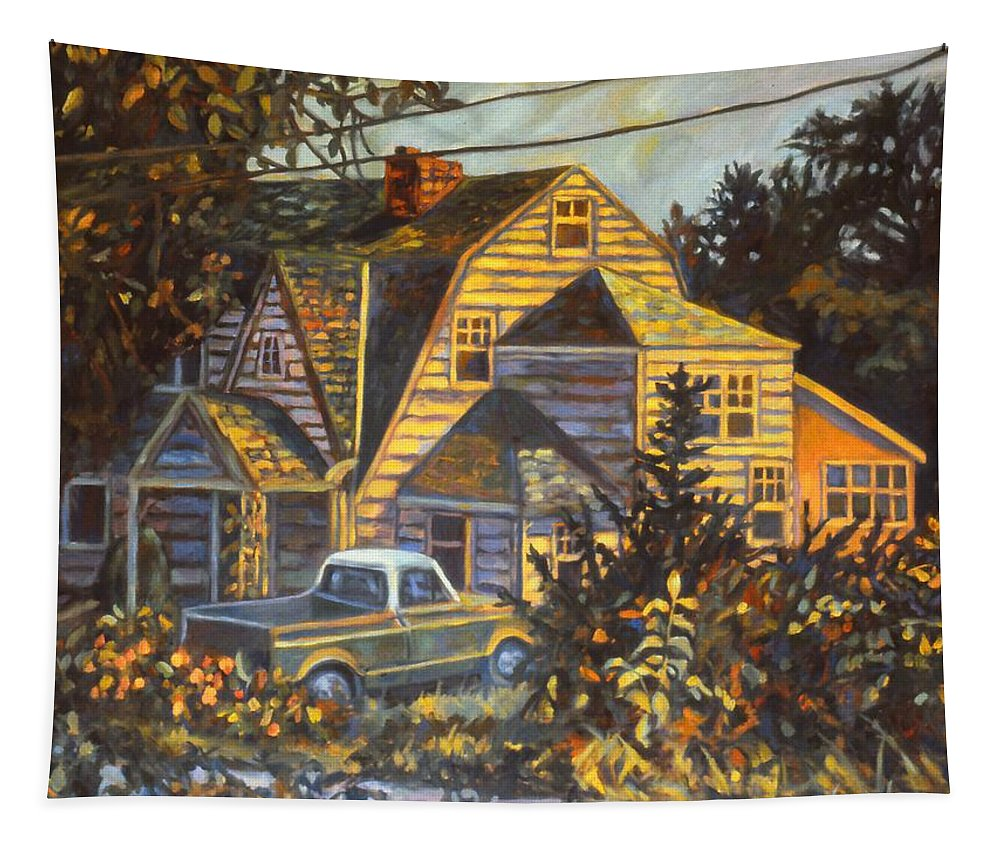 Kendall Kessler Tapestry featuring the painting House in Christiansburg by Kendall Kessler