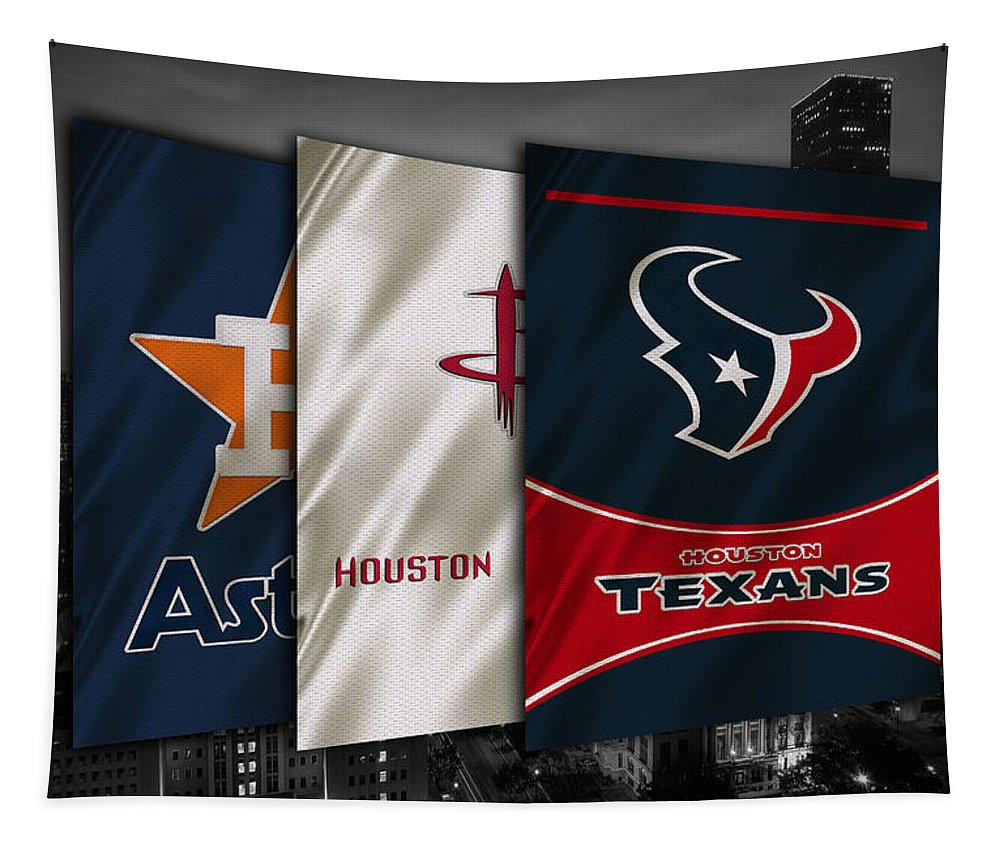 Astros Tapestry featuring the photograph Houston Sports Teams by Joe Hamilton