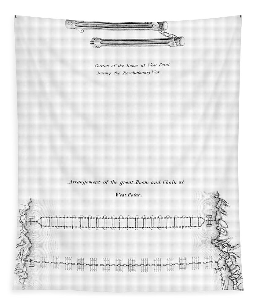 1778 Tapestry featuring the photograph Hudson River: Chain, C1778 by Granger