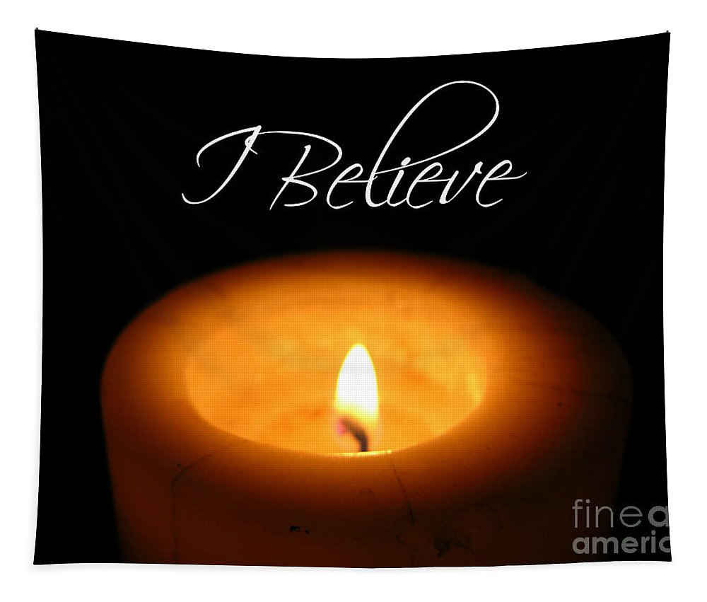Candle Tapestry featuring the photograph I Believe by Carol Groenen