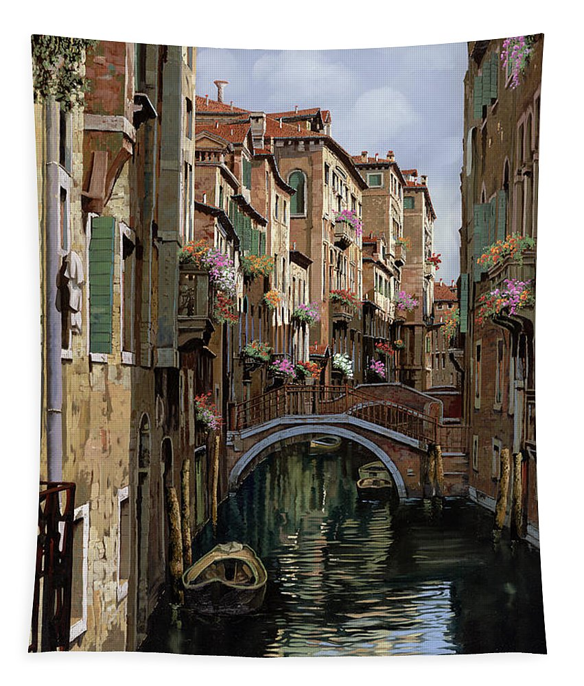 Venice Tapestry featuring the painting I Ponti A Venezia by Guido Borelli