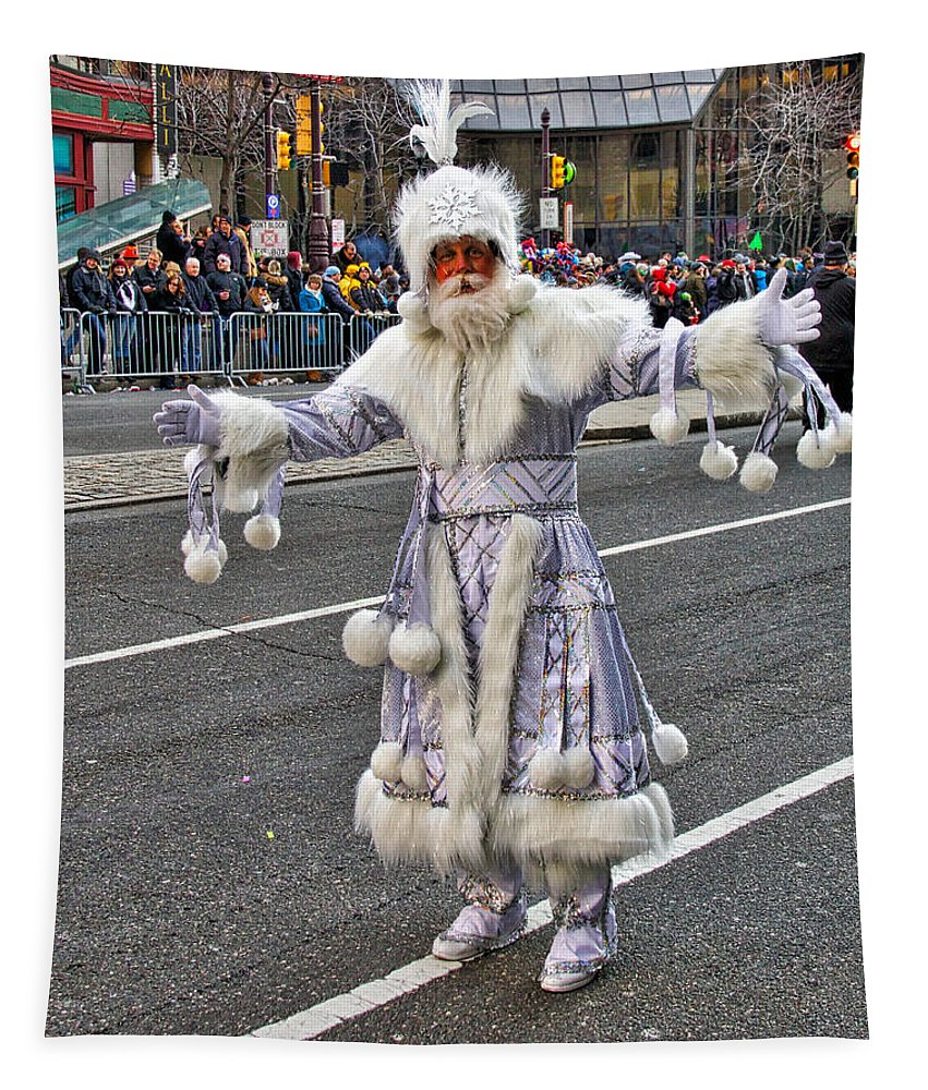 Mummer Tapestry featuring the photograph Icy Mummer by Alice Gipson