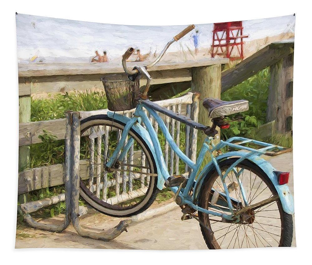 Bike Tapestry featuring the photograph Ill Get My Bike by Alice Gipson