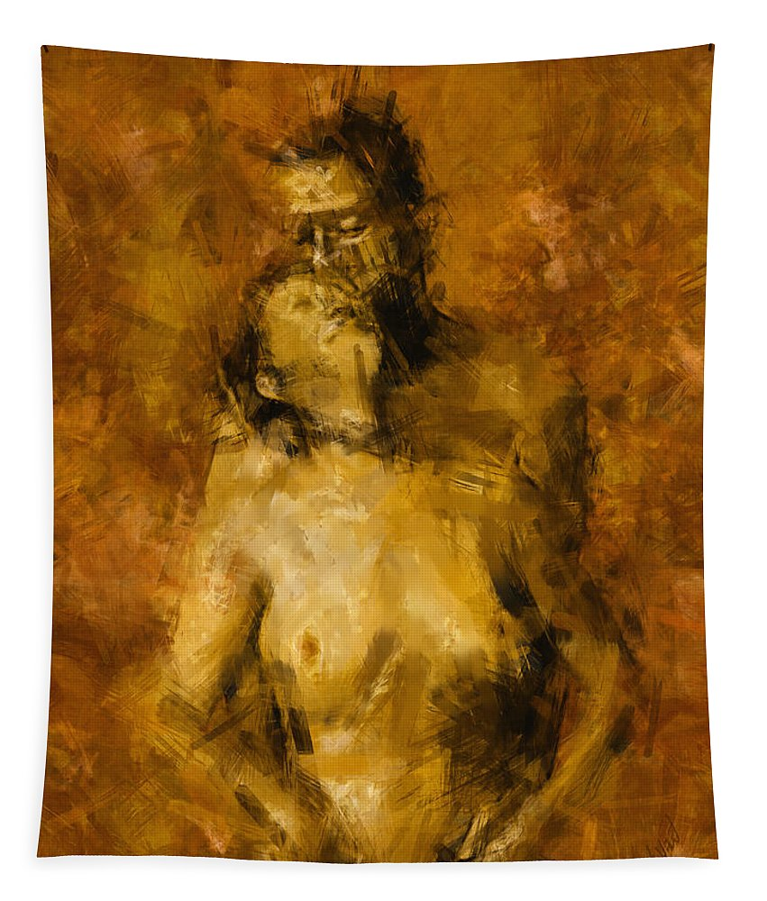 Nude Tapestry featuring the photograph I'm Yours Forever by Kurt Van Wagner
