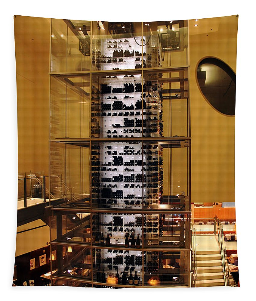 Wine Rack Tapestry featuring the photograph Impressive Wine Rack by Debbie Oppermann
