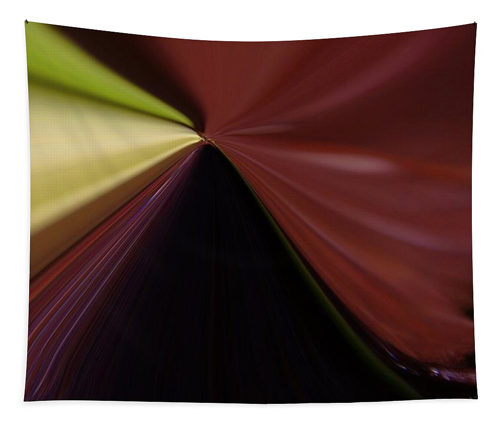 Abstract Tapestry featuring the photograph In Fast Flight From A Bugs Eye by Jeff Swan