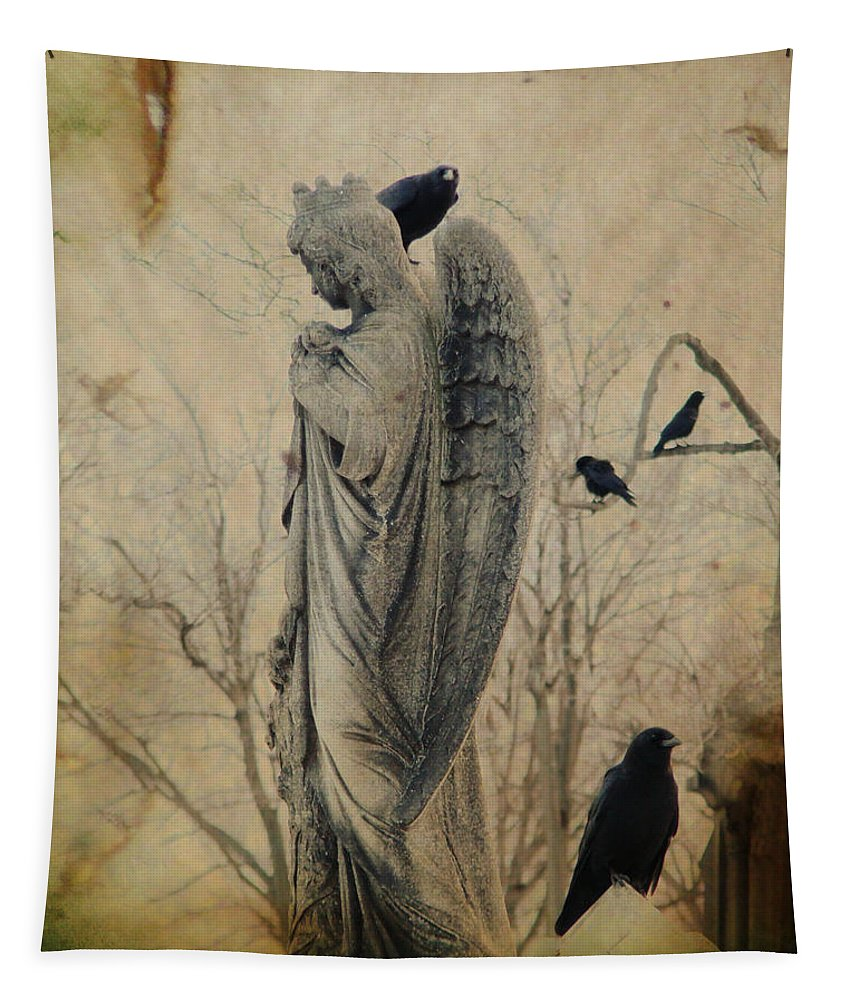 Otherworldly Tapestry featuring the photograph In The Elysian Fields by Gothicrow Images