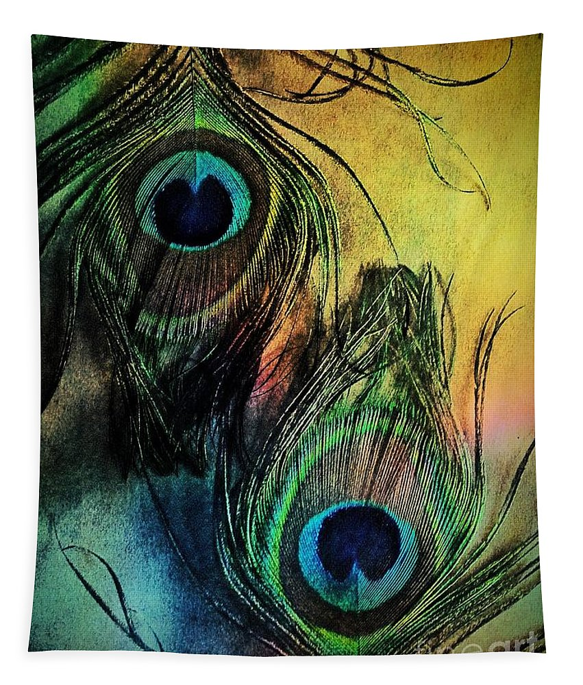 Peacock Tapestry featuring the photograph In The Eyes Of Others by Binka Kirova