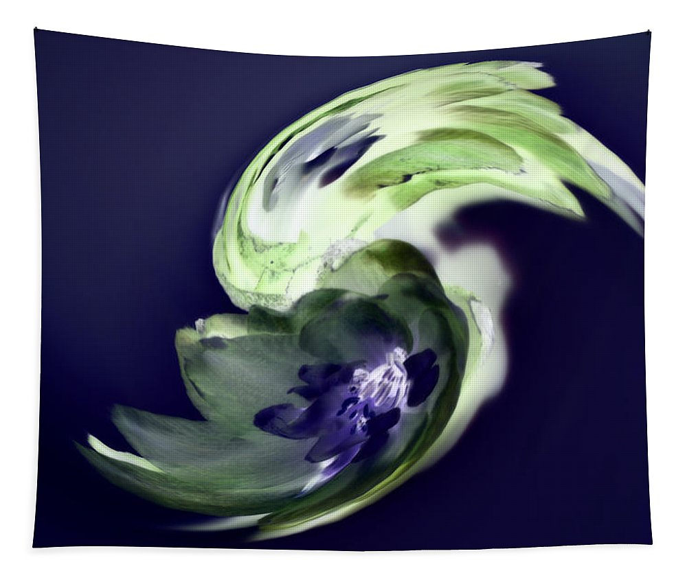 Abstract Phototgraphy Tapestry featuring the photograph Incana abstract 1 by Paulina Roybal