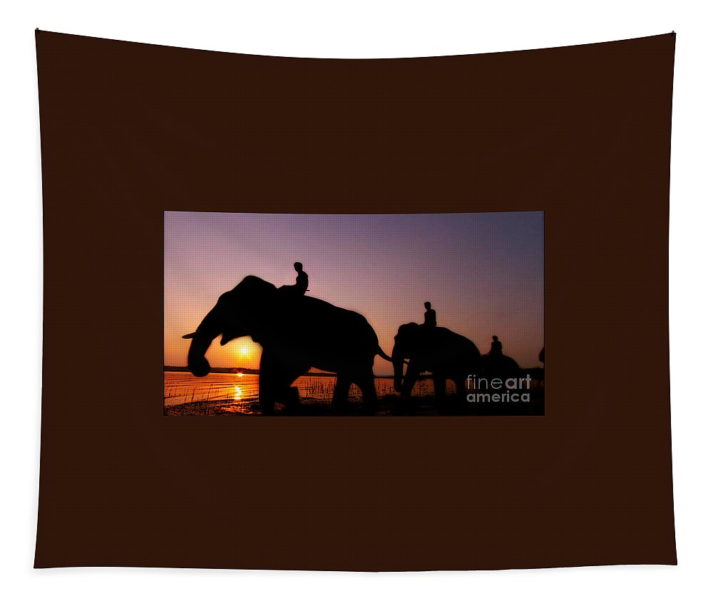 India Tapestry featuring the photograph India 4 by Ben Yassa