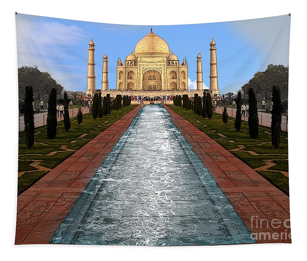 India Tapestry featuring the photograph India 5 by Ben Yassa