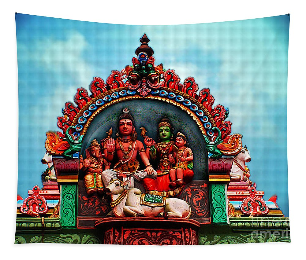 India Tapestry featuring the photograph Indian Temple by Ben Yassa