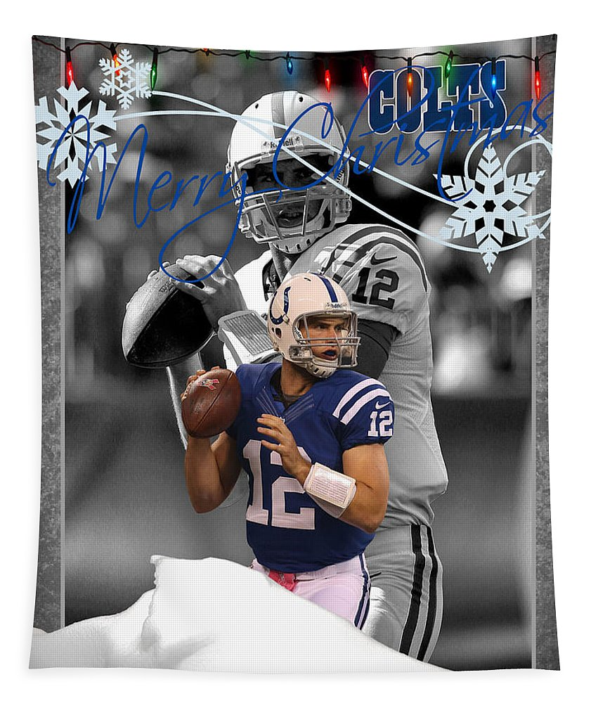 Colts Tapestry featuring the photograph Indianapolis Colts Christmas Card by Joe Hamilton