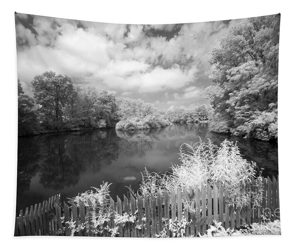 Infrared Tapestry featuring the photograph Infrared Mill Pond by Paul W Faust - Impressions of Light