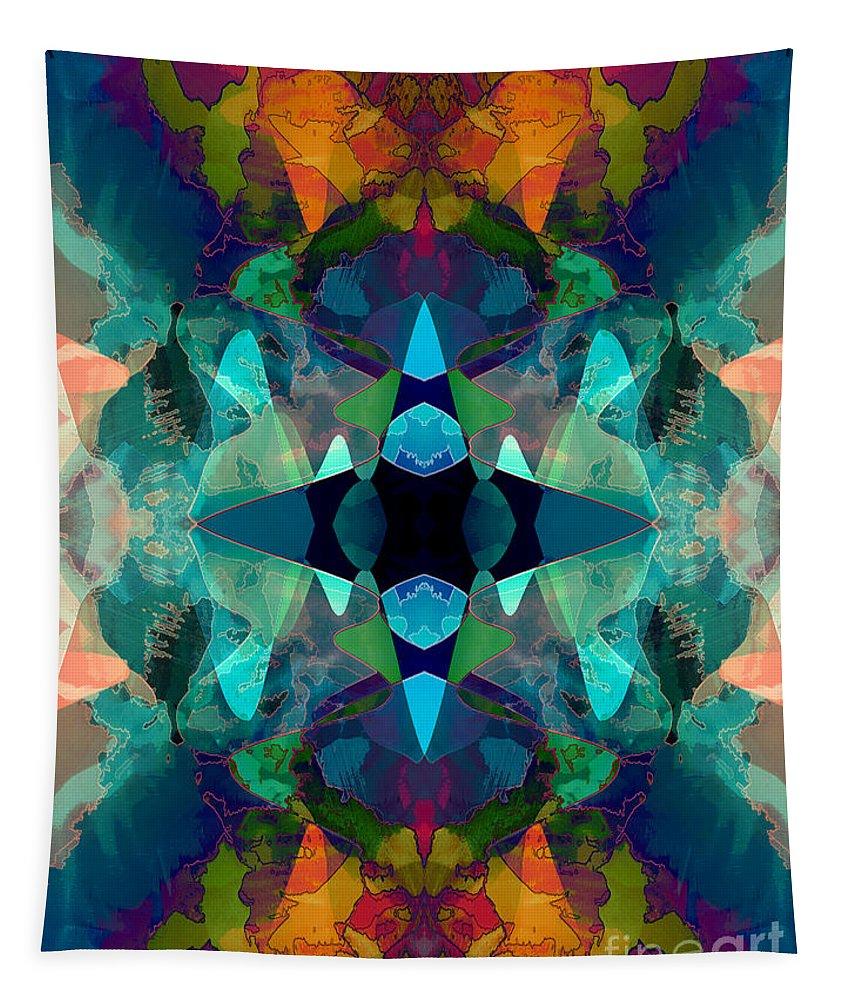 Inkblot Tapestry featuring the digital art Inkblot Imagination by Phil Perkins