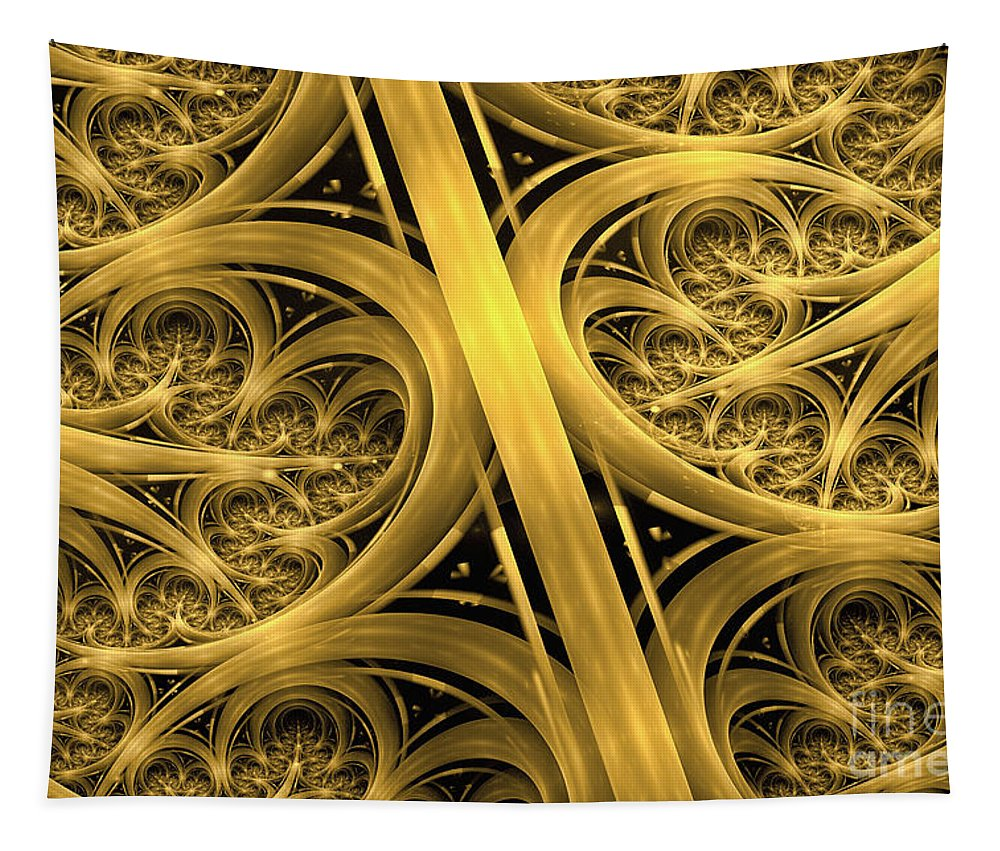 Interchange Abstract Tapestry featuring the digital art Interchange by John Edwards