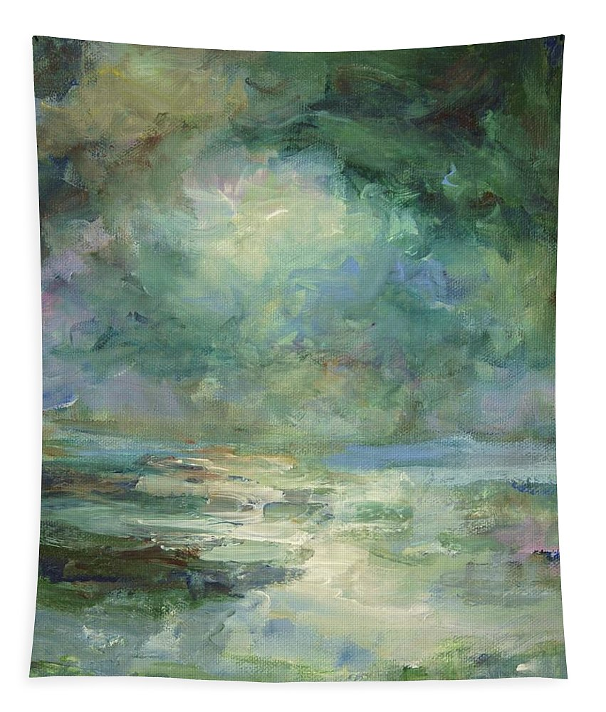Impressionism Tapestry featuring the painting Into The Light by Mary Wolf