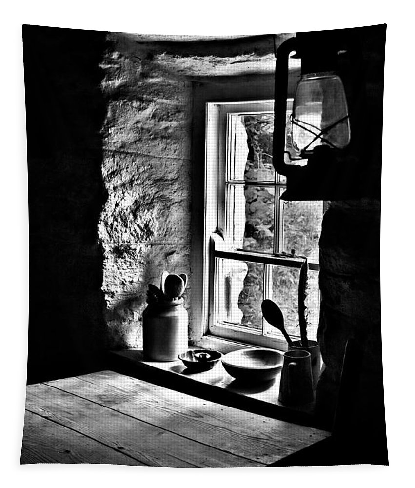 Ireland Tapestry featuring the photograph Irish Cottage Window by Nigel R Bell