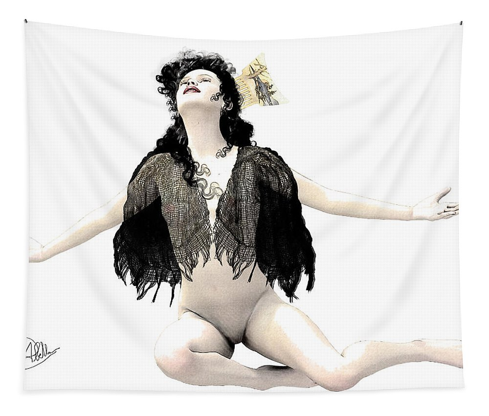 Whore Tapestry featuring the digital art Isabel by Quim Abella