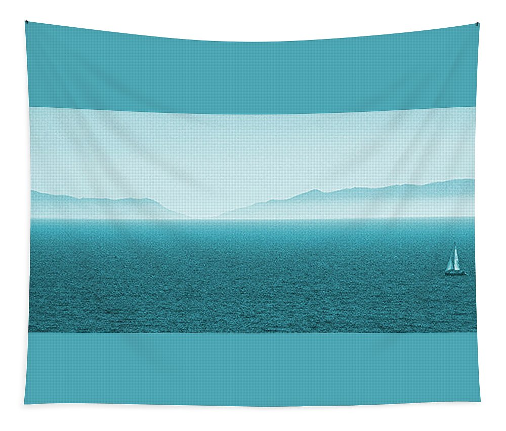 Seascape Tapestry featuring the photograph Island by Ben and Raisa Gertsberg