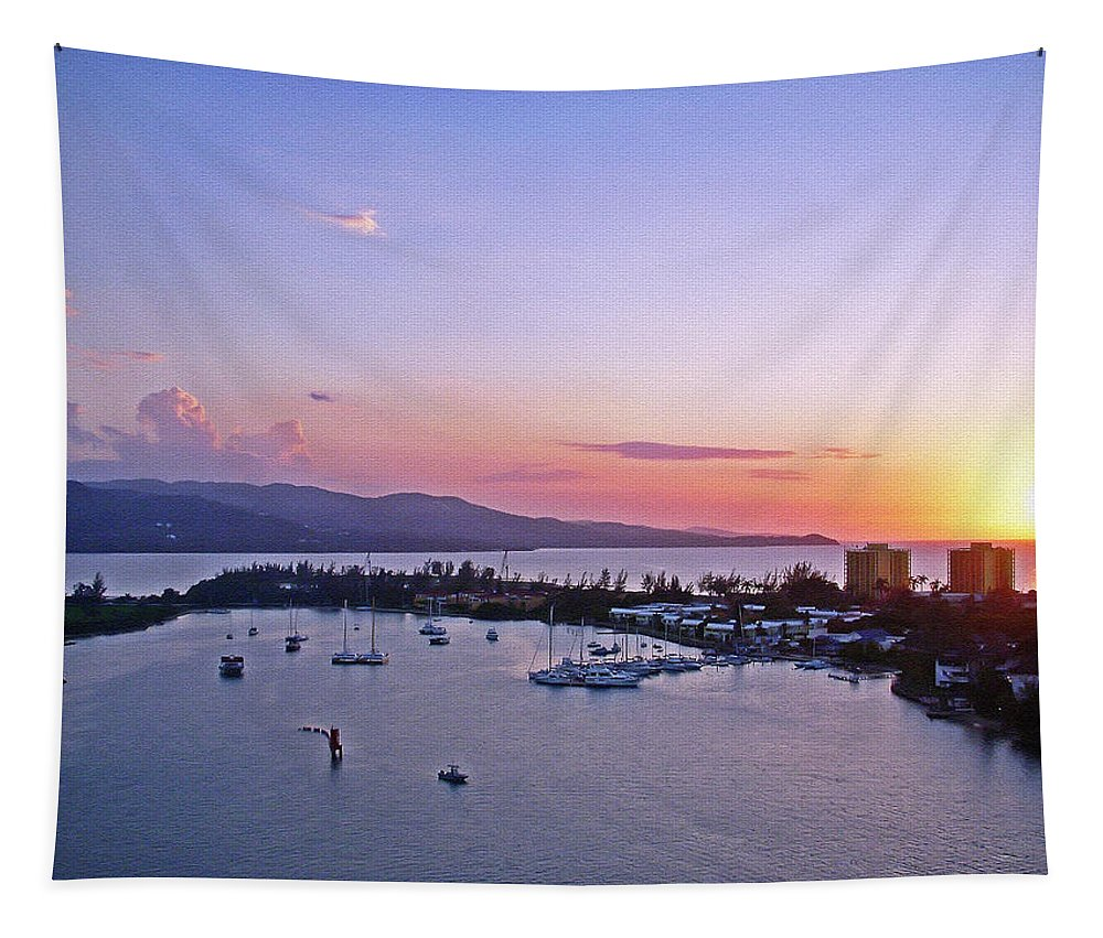 Island Tapestry featuring the photograph Island Sunset by Aimee L Maher ALM GALLERY