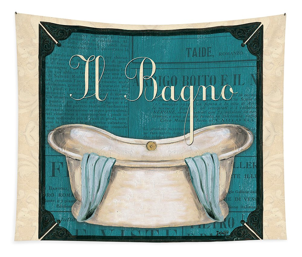 Bath Tapestry featuring the painting Italianate Bath by Debbie DeWitt