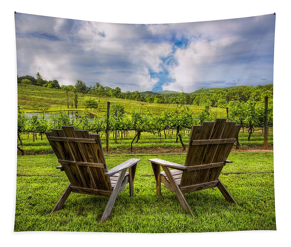 Appalachia Tapestry featuring the photograph It's Happy Hour by Debra and Dave Vanderlaan