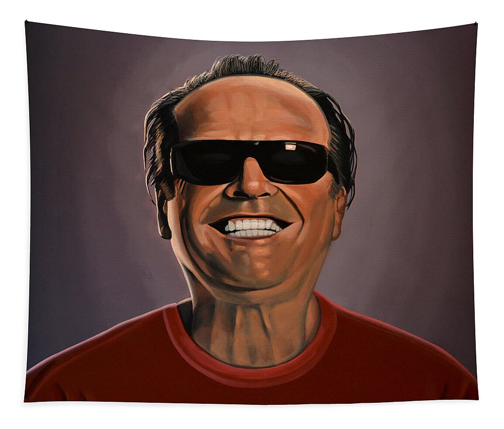 Jack Nicholson Tapestry featuring the painting Jack Nicholson 2 by Paul Meijering