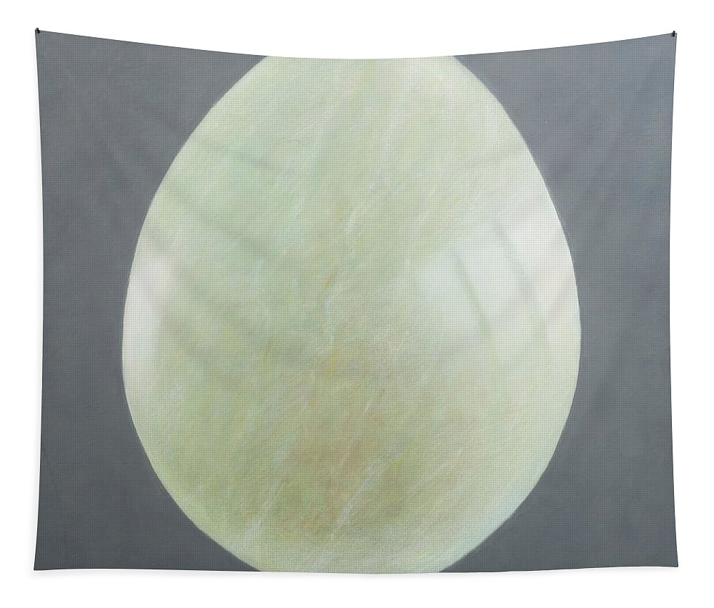 Jade Tapestry featuring the photograph Jade Egg, 2012 Acrylic On Canvas by Lincoln Seligman