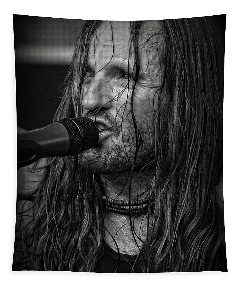 Music Tapestry featuring the photograph Jamesie by Mike Martin