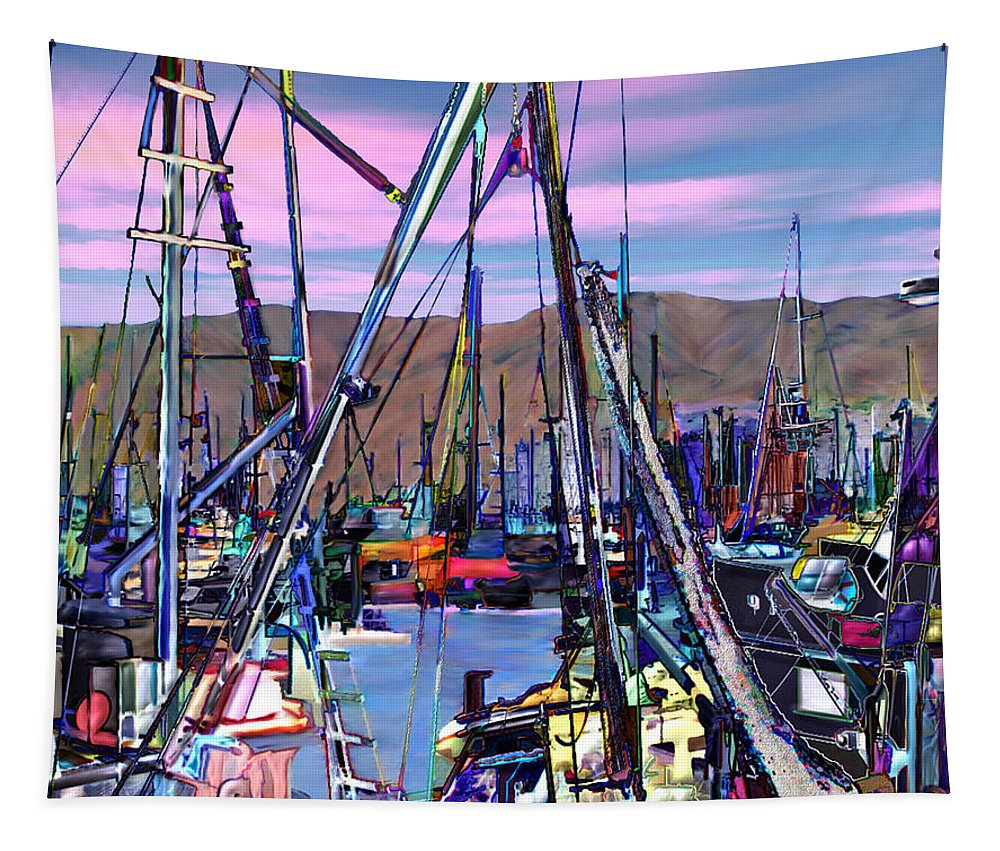 Harbors Tapestry featuring the photograph Jammin At Twilight by Kurt Van Wagner