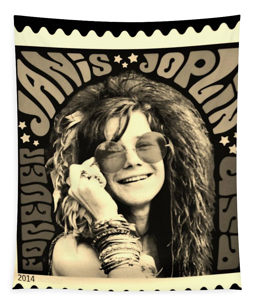 Janis Tapestry featuring the photograph Janis Stamp In A Sepia Vibe by Rob Hans