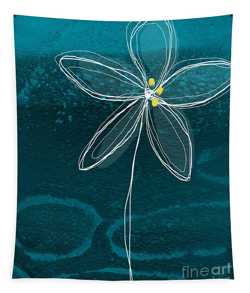 Abstract Tapestry featuring the painting Jasmine Flower by Linda Woods