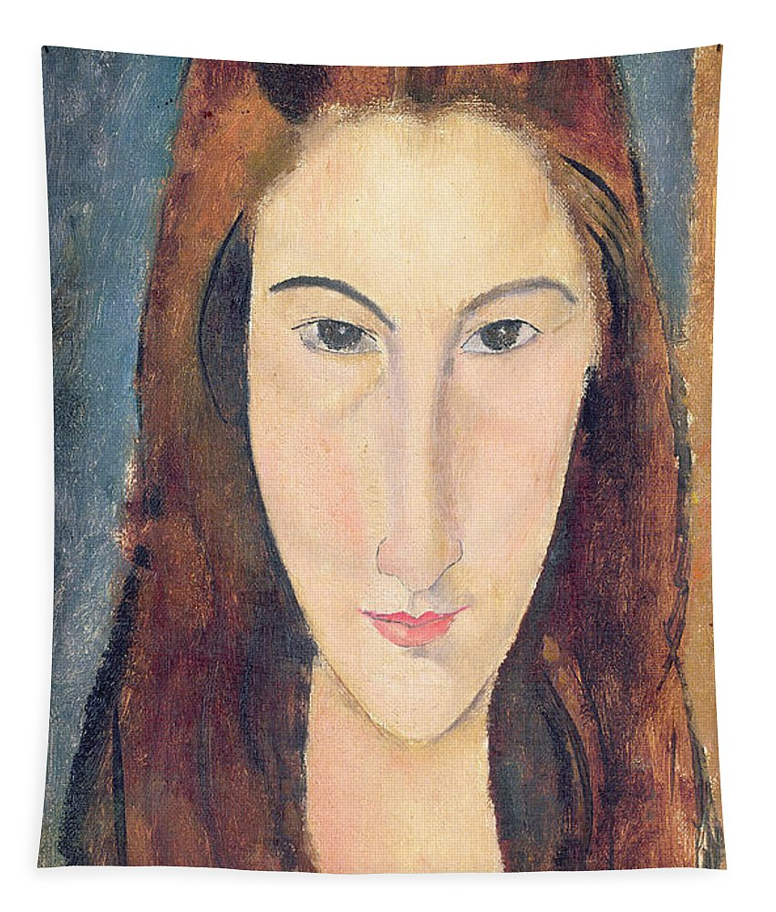 Modigliani Tapestry featuring the painting Jeanne Hebuterne by Amedeo Modigliani
