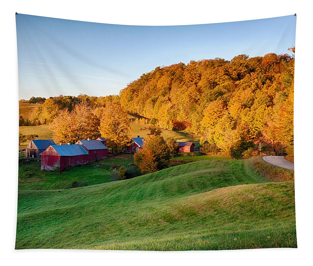 Jenne Farm Vermont Tapestry featuring the photograph Jenne Farm by Jeff Folger