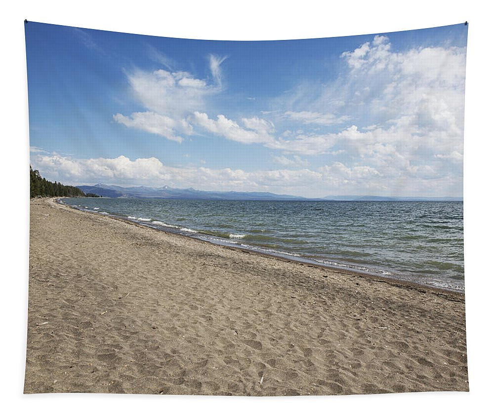 Summer Tapestry featuring the photograph Yellowstone Lake by Belinda Greb