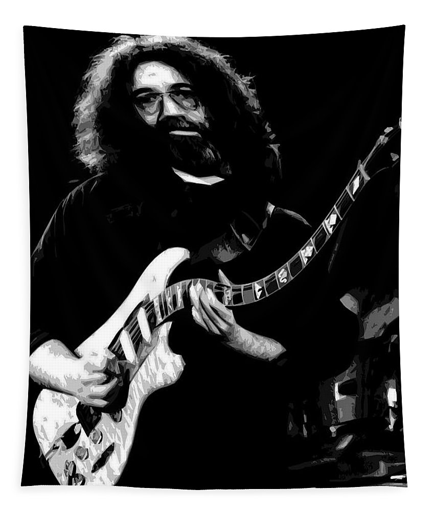 Jerry Garcia Tapestry featuring the photograph Jerry At The Fun House Mirror by Ben Upham