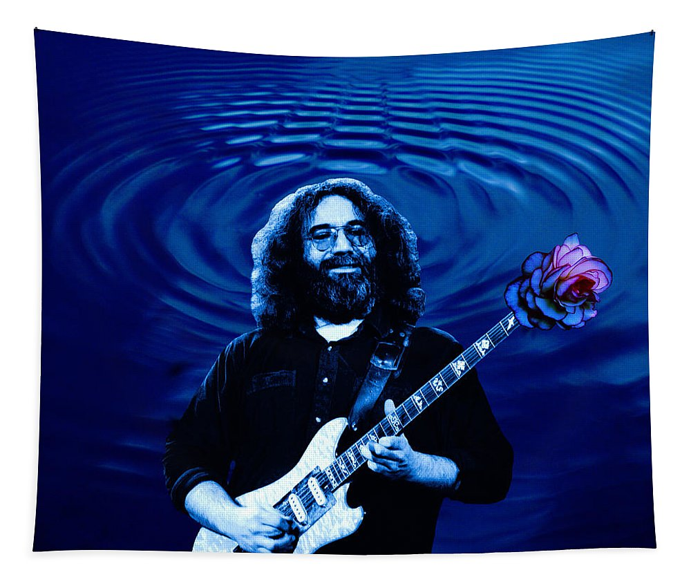Grateful Dead Tapestry featuring the photograph Blue Ripple Rose by Ben Upham