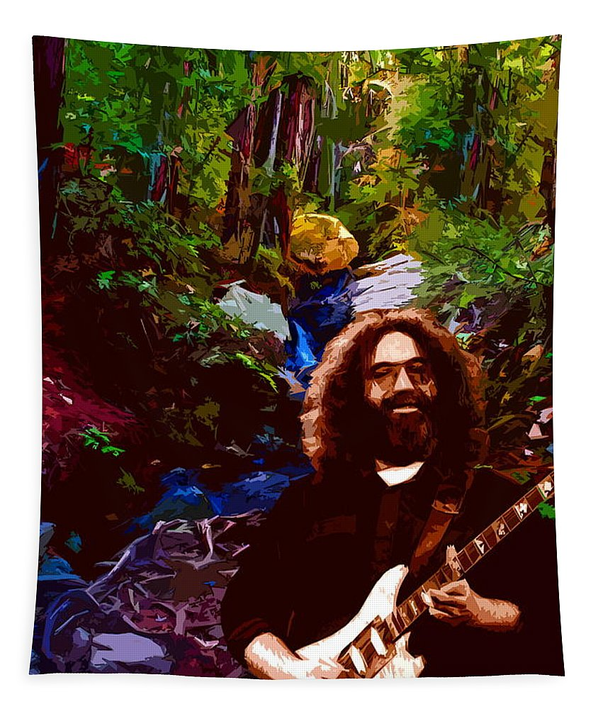 Jerry Garcia Tapestry featuring the photograph Jerry's Mountain Music 3 by Ben Upham