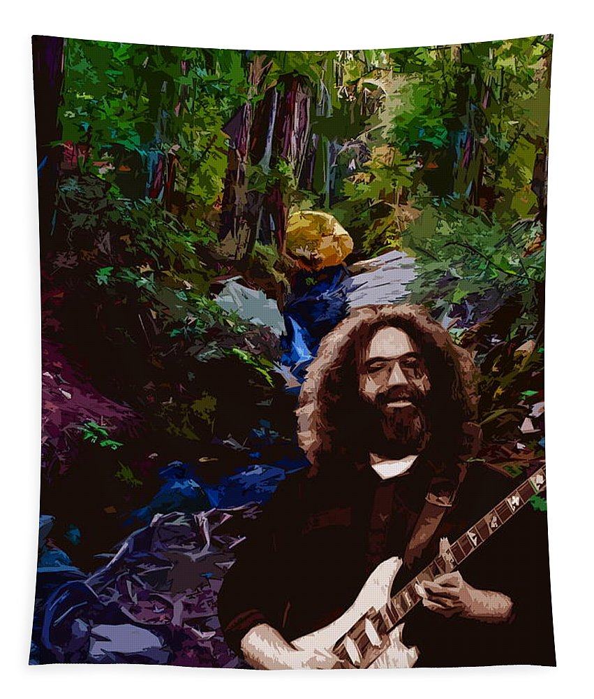 Jerry Garcia Tapestry featuring the photograph Jerry's Mountain Music 7 by Ben Upham