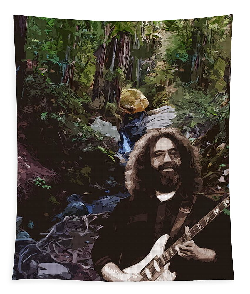 Jerry Garcia Tapestry featuring the photograph Jerry's Mountain Music 9 by Ben Upham