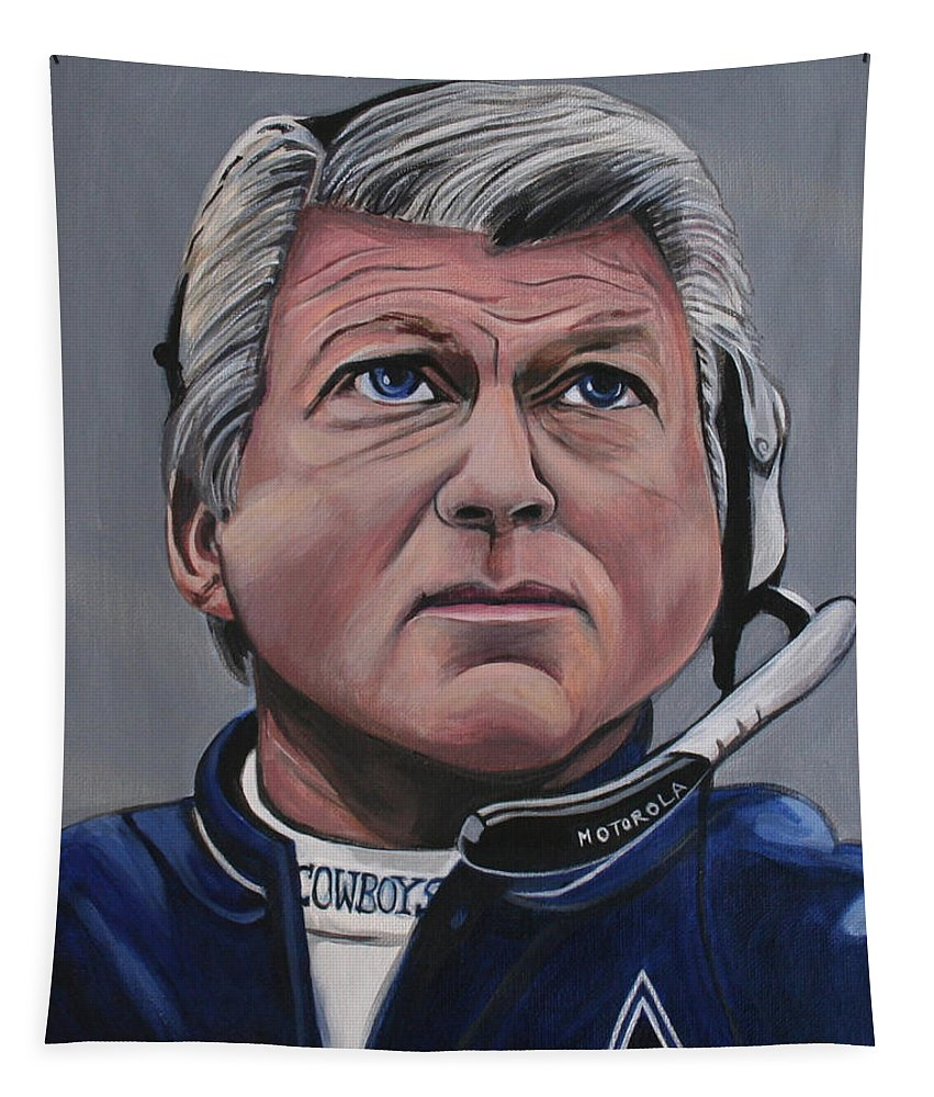 Jimmy Johnson Tapestry featuring the painting Jimmy Johnson by Kate Fortin