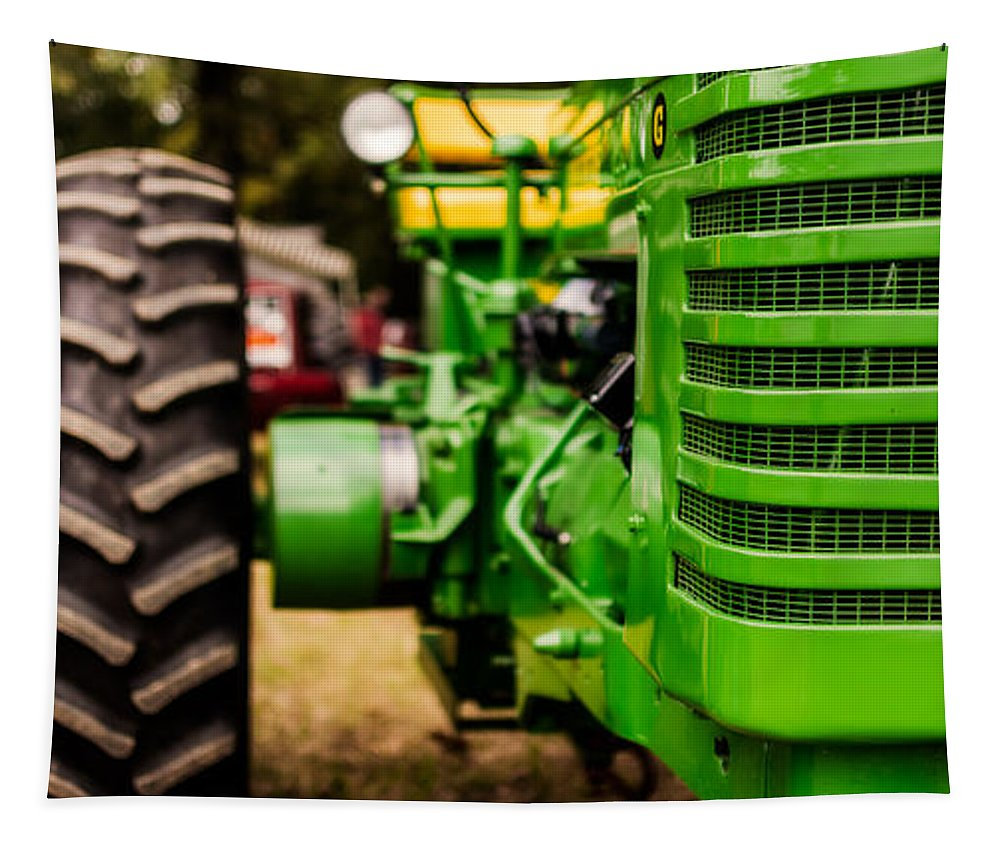Grill Tapestry featuring the photograph John Deere Model G by Jon Woodhams