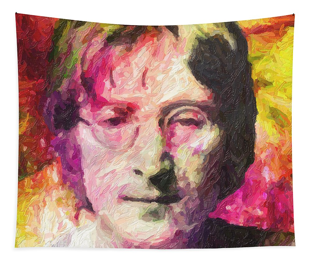 John Lennon Tapestry featuring the painting John Lennon by Zapista OU